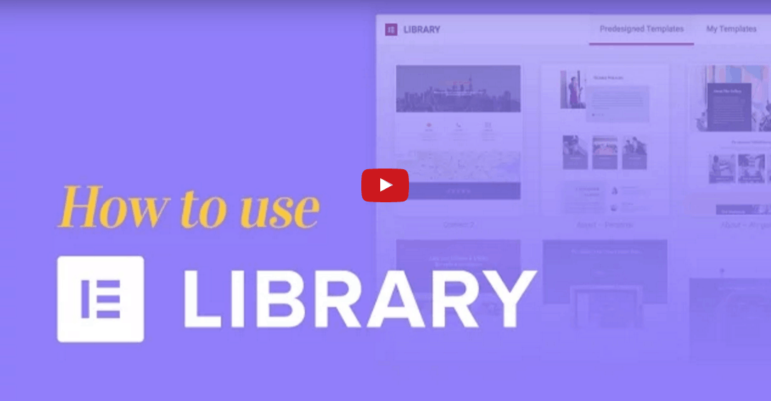 איך להשתמש בספריית התבניות של אלמנטור בונה העמודים