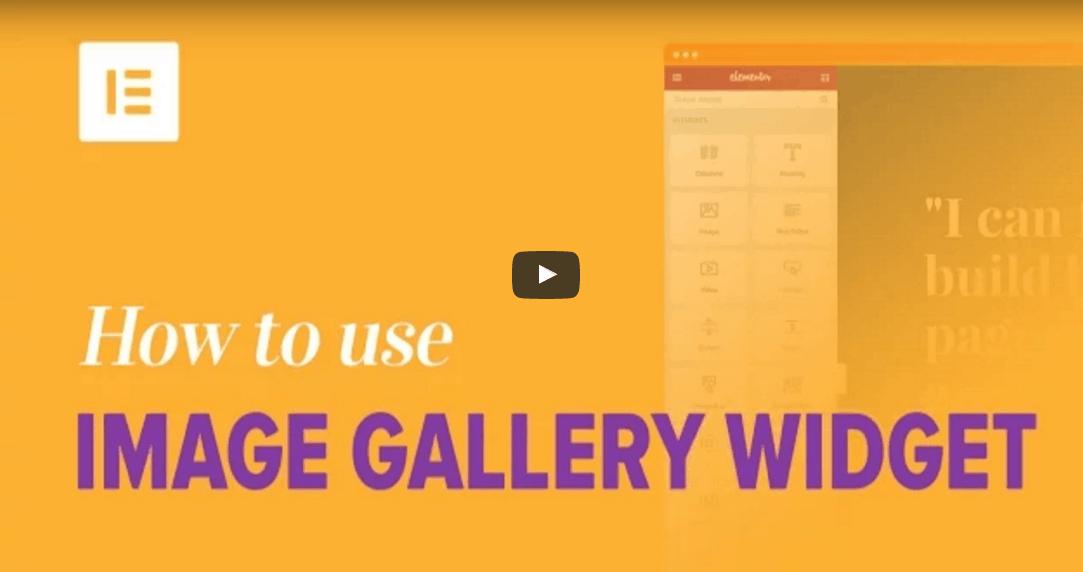 איך להשתמש בווידג'ט גלריית תמונות